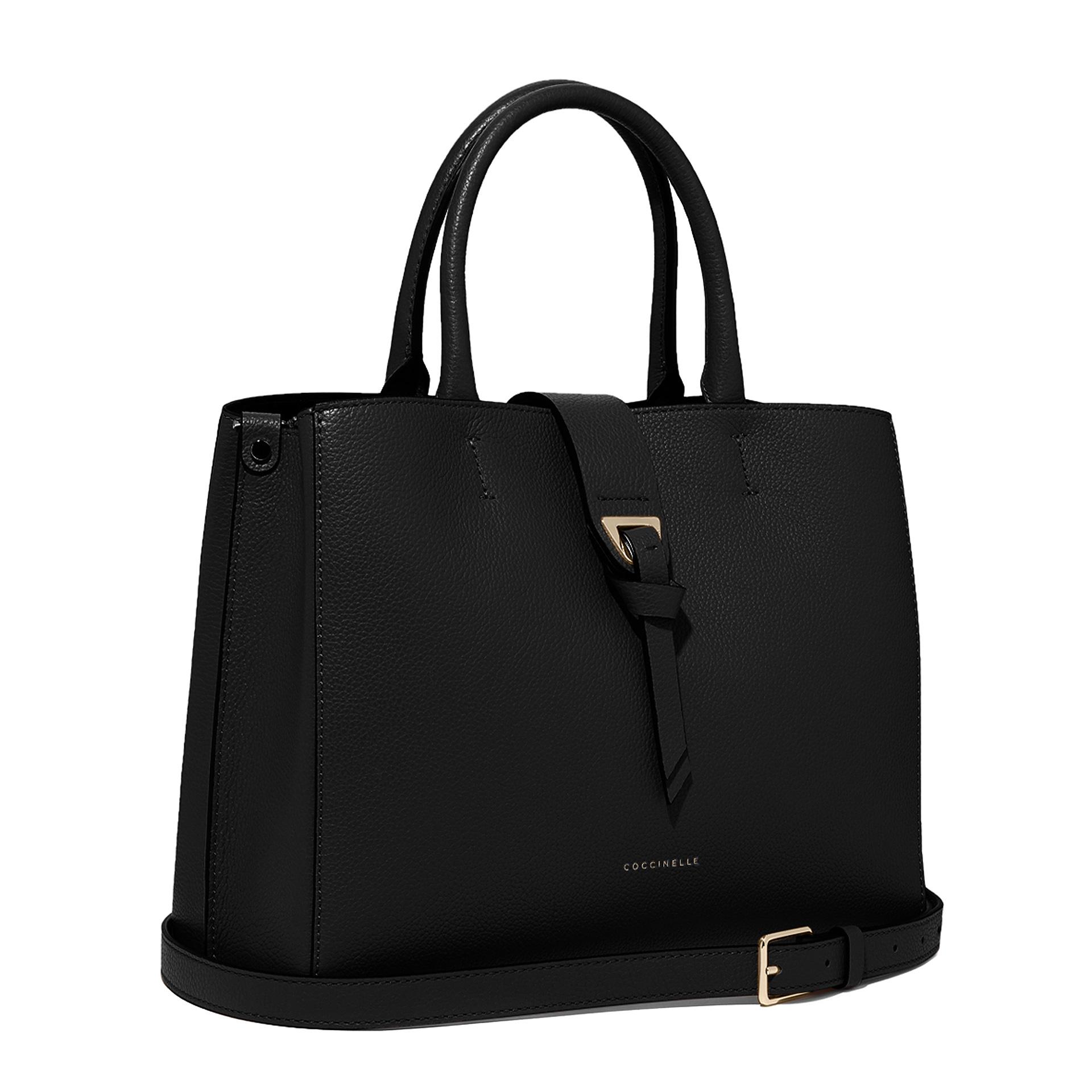 Alba Medium Handtasche aus Bottalata-Leder noir