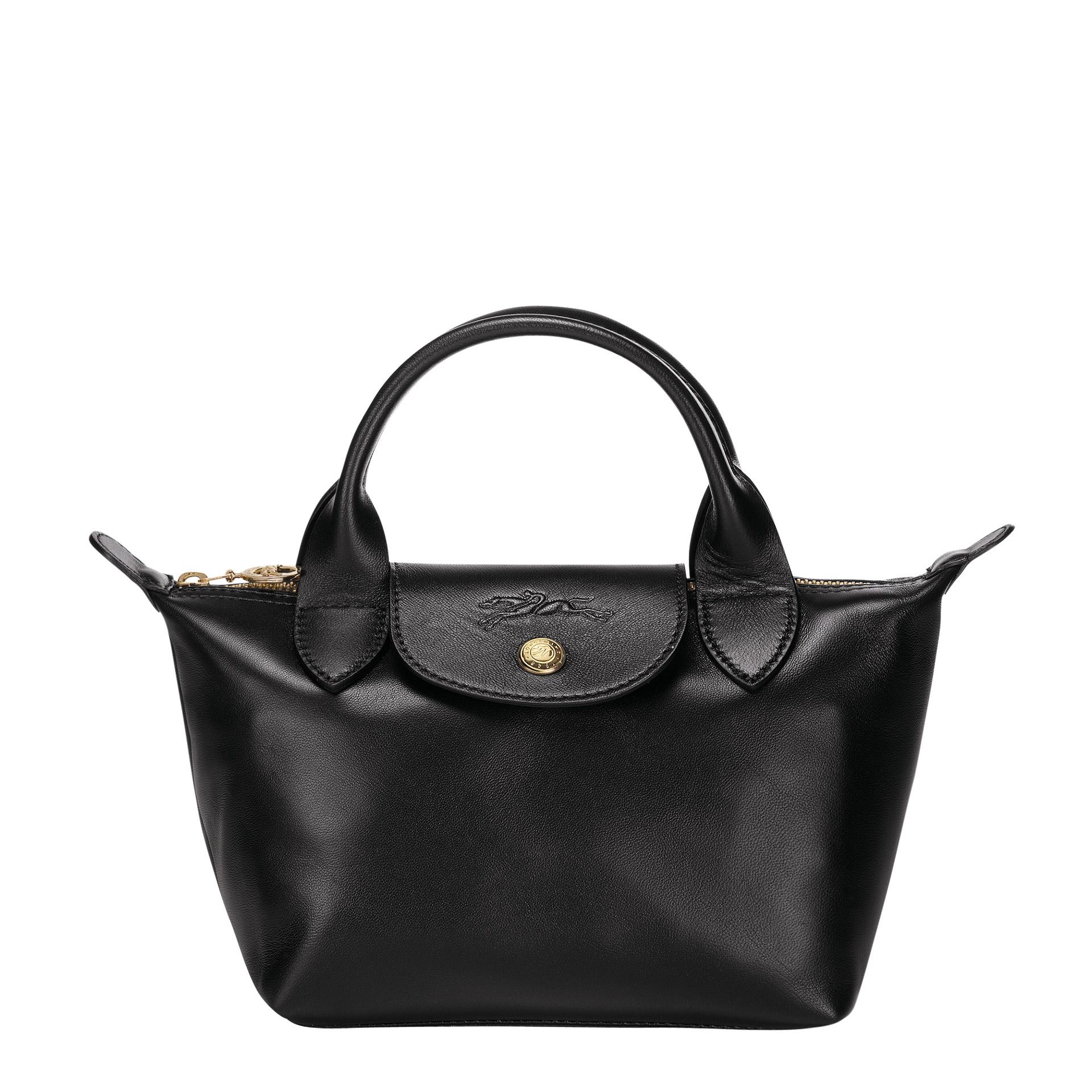Le Pliage Cuir Mini Handtasche black