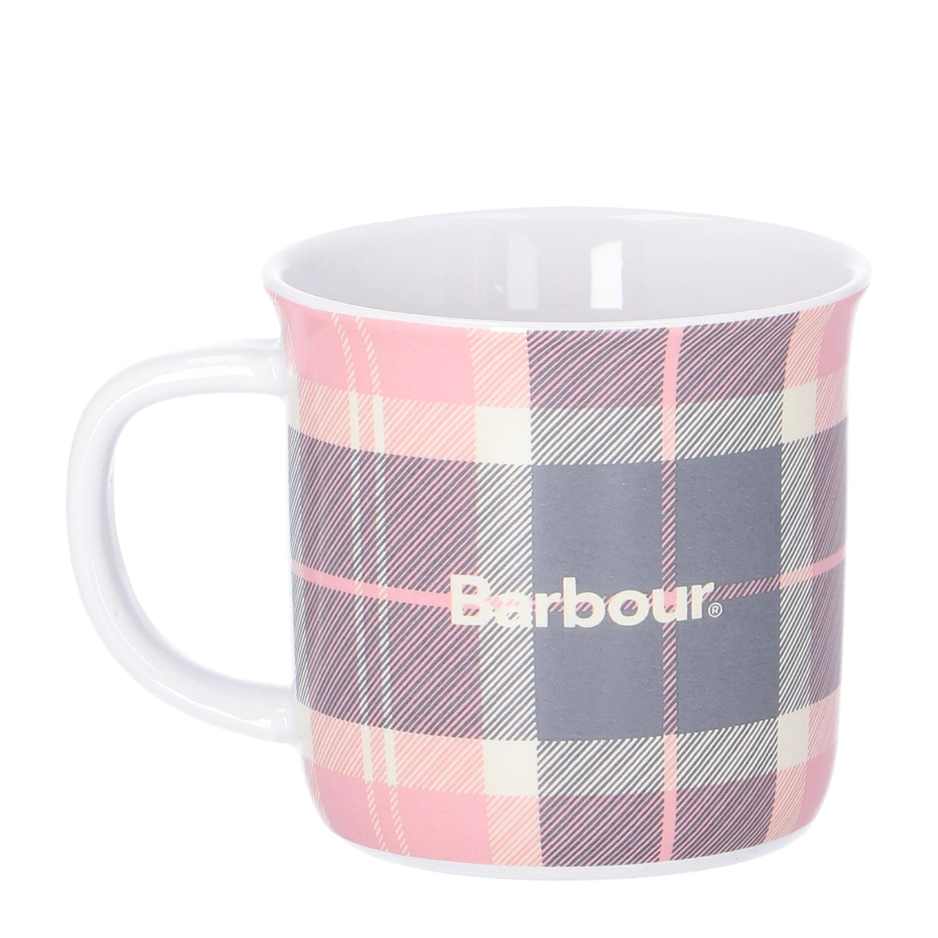 Barbour Tartan Mug Tasse pink grey tartan