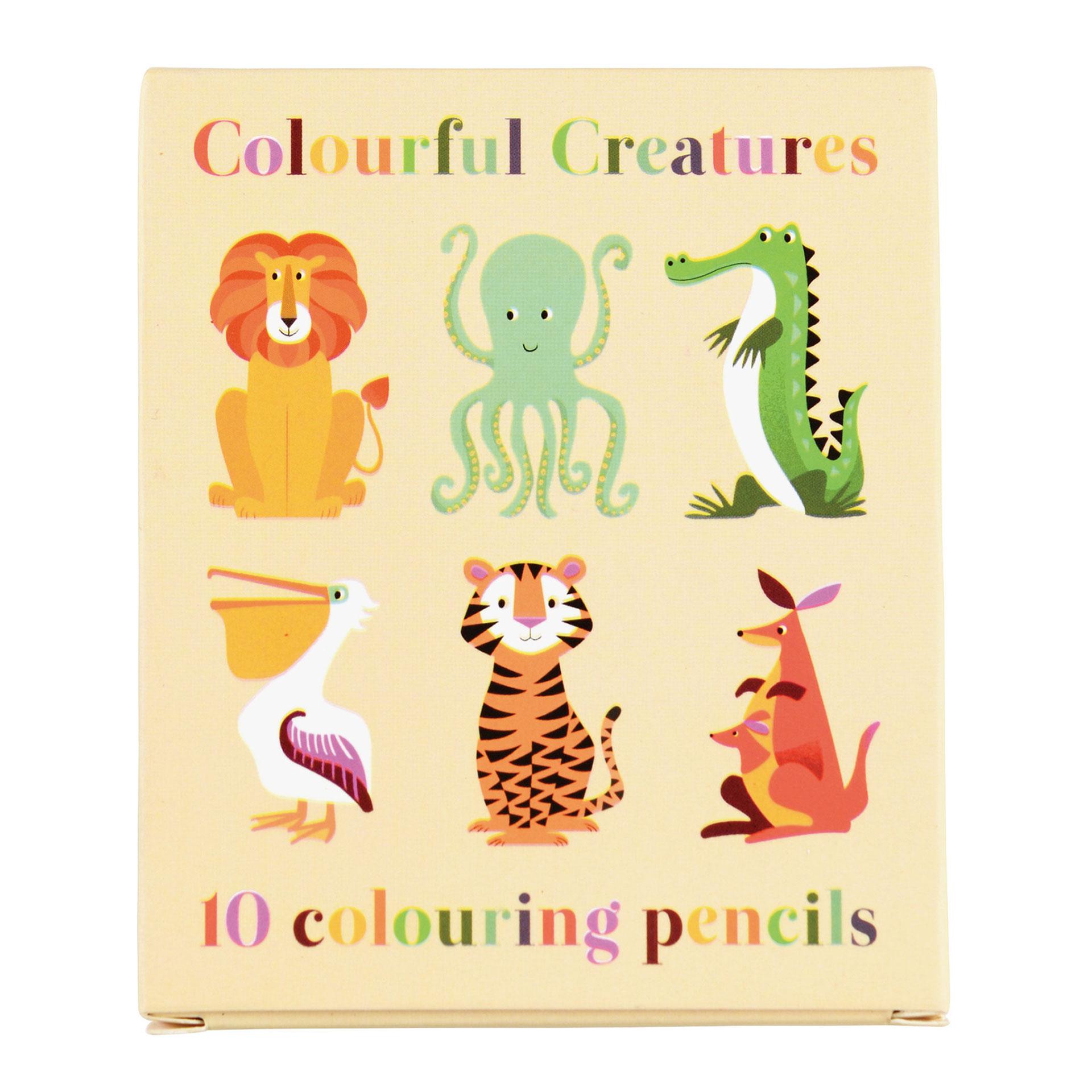 LEOKA Rex London Buntstifte Set 10 Stück colourful creatures