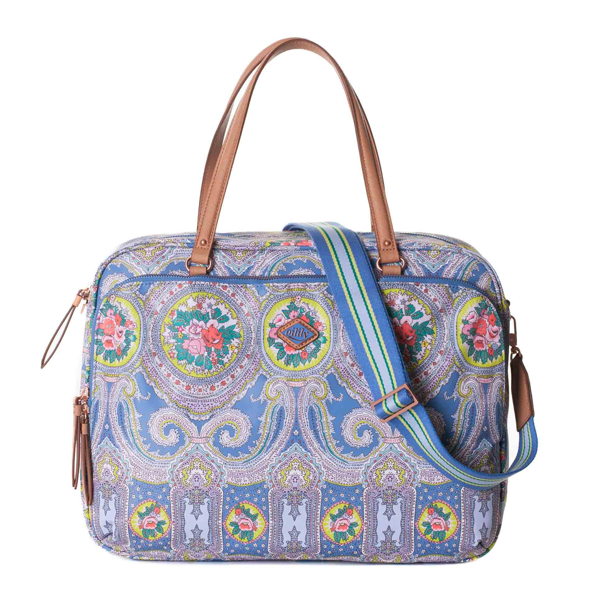 Oilily City Rose Paisley Businesstasche riviera