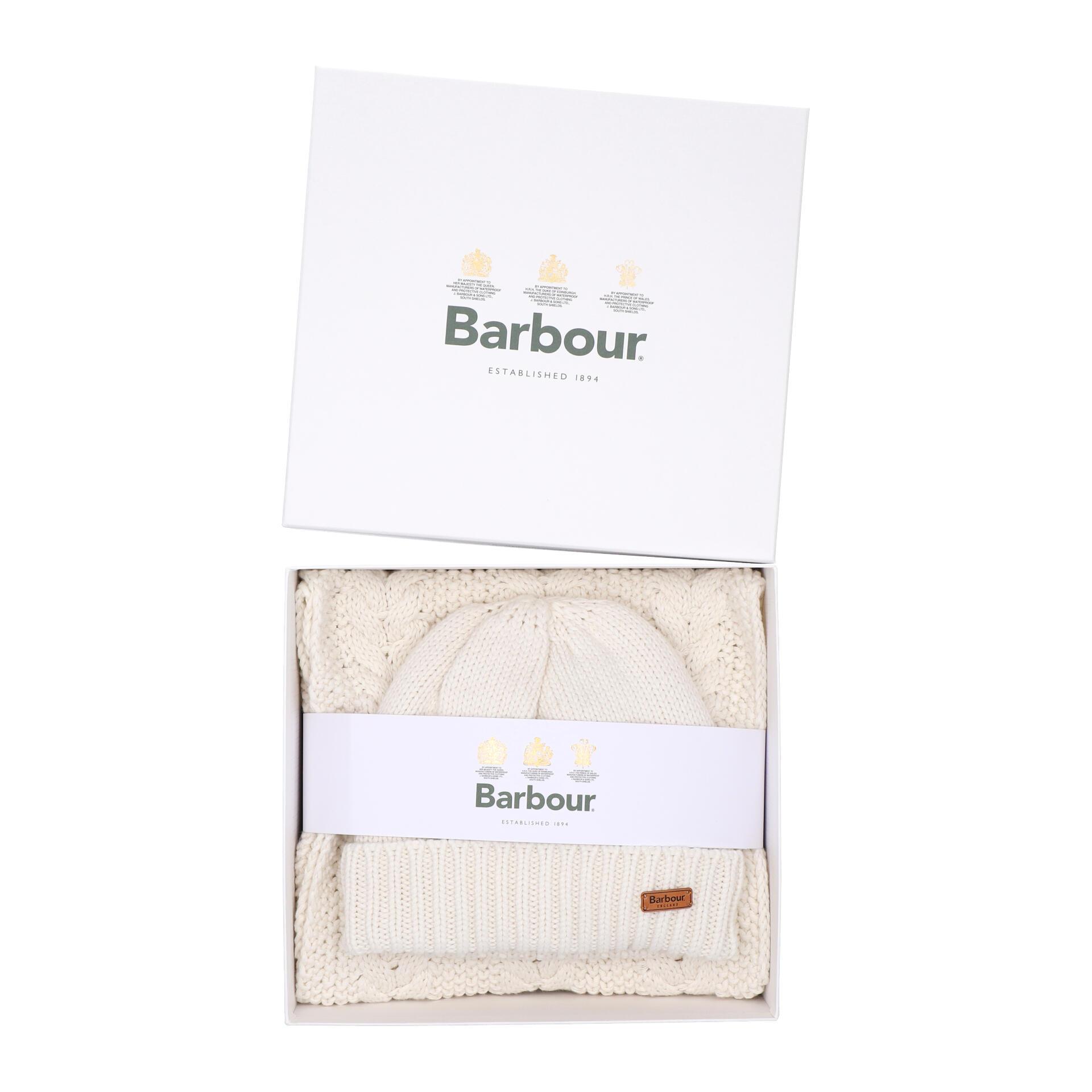 Barbour  Mütze und Schal im Geschenkset cloud