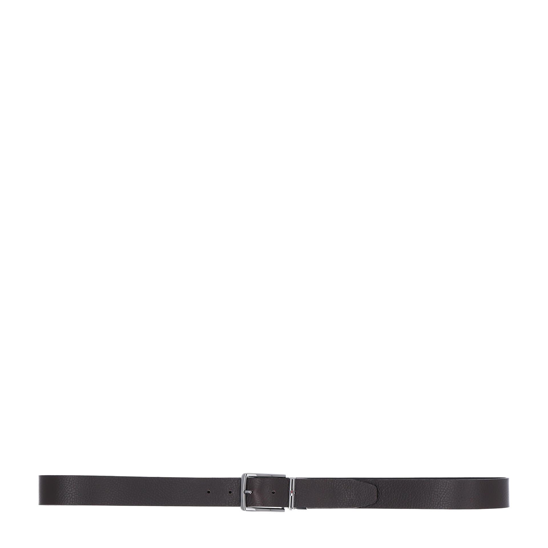 Tommy Hilfiger Denton Leather Gürtel 115 cm testa di moro/black