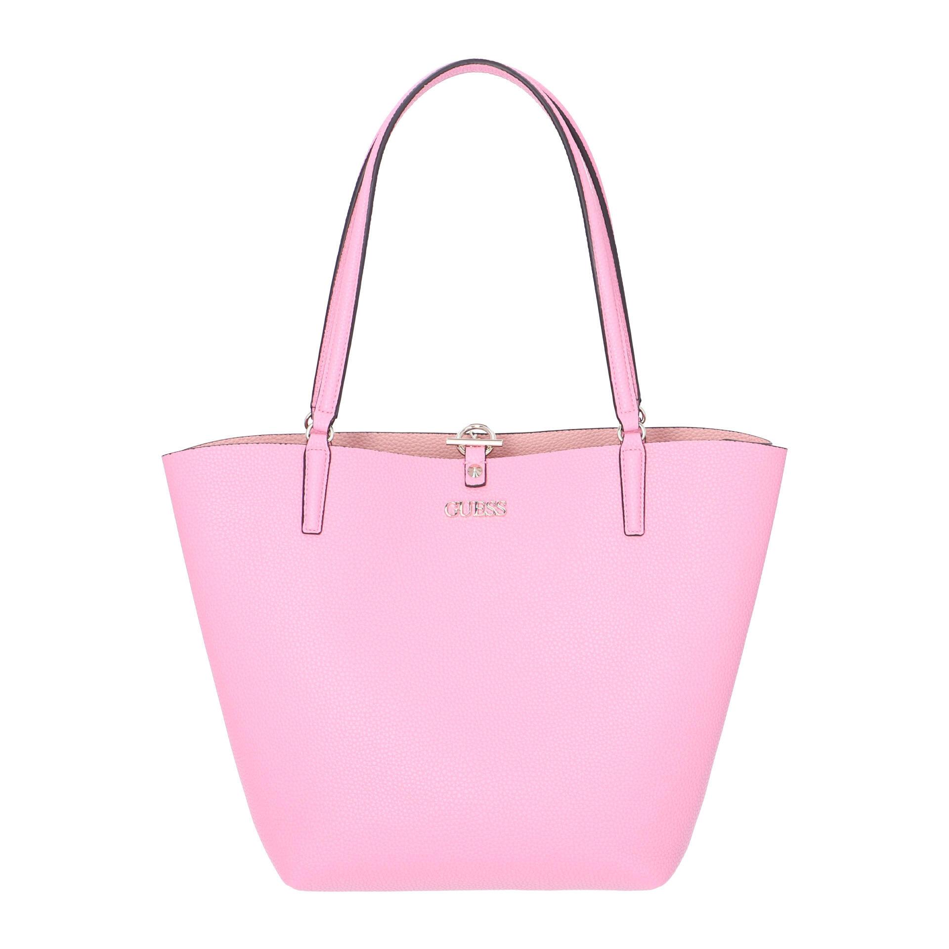 Guess Alby Shopper mit herausnehmbarer Pochette pink